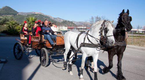 Carruaje de caballos en Gandia