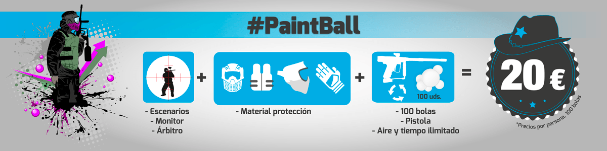 Paintball para despedidas de solteros