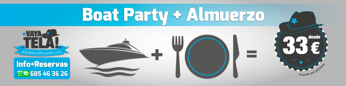 Boat Party + Almuerzo 33€