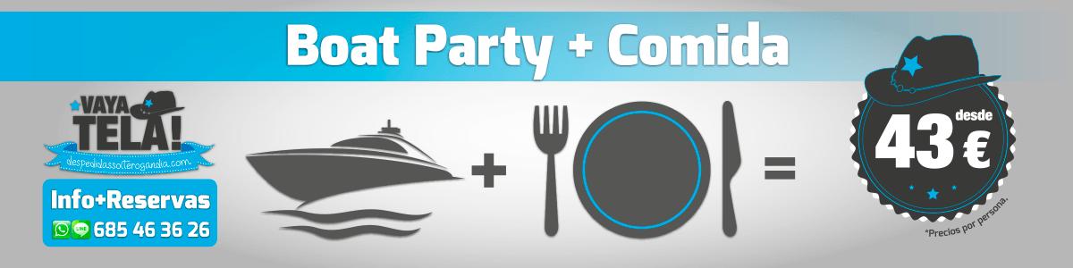 Boat Party + Comida En Los Bestias 43€