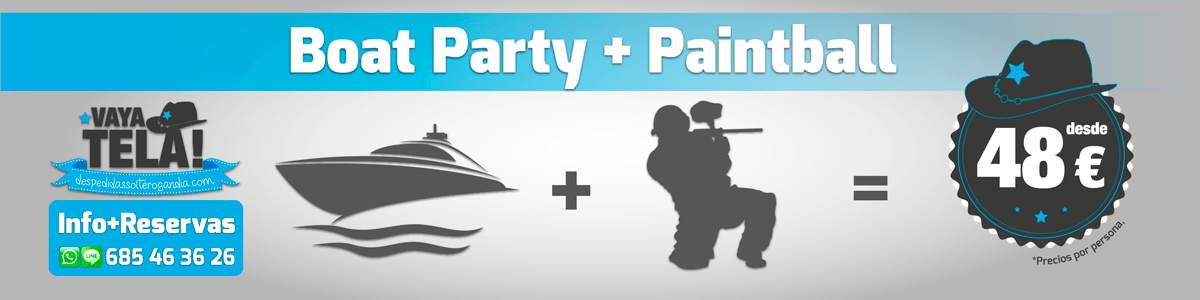 Boat Party + Paintball 48€