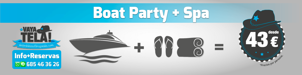Boat Party + Spa 43€