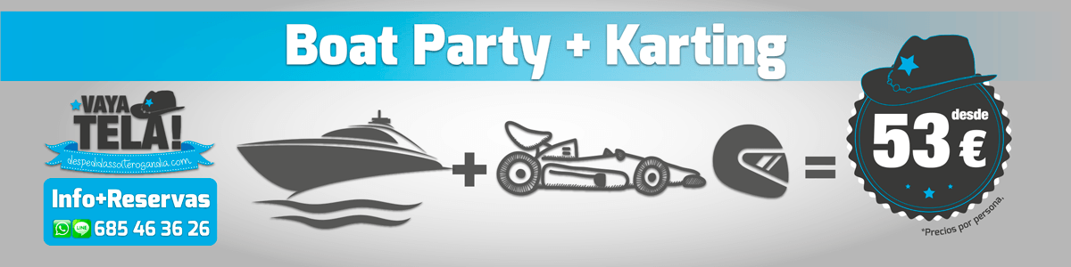 Boat Party + Karting 53€