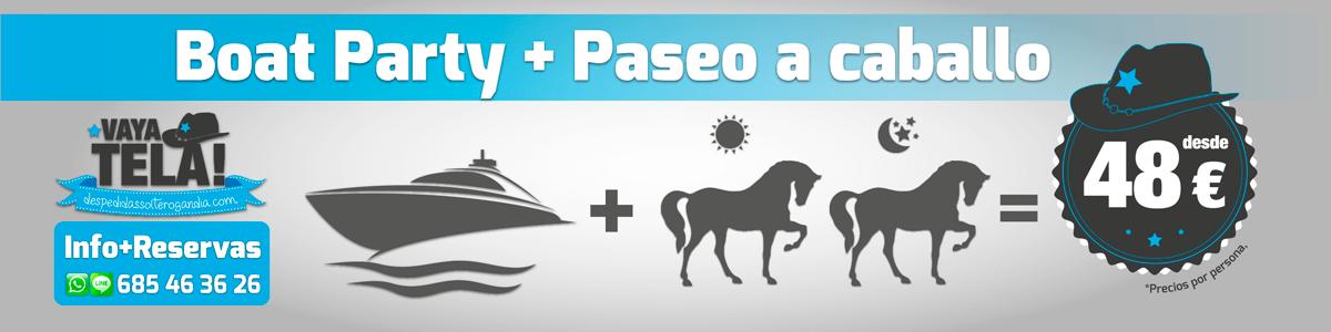 Boat Party + Paseo a Caballo 48€