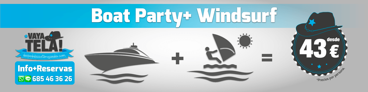 Boat Party + Windsurf 43€