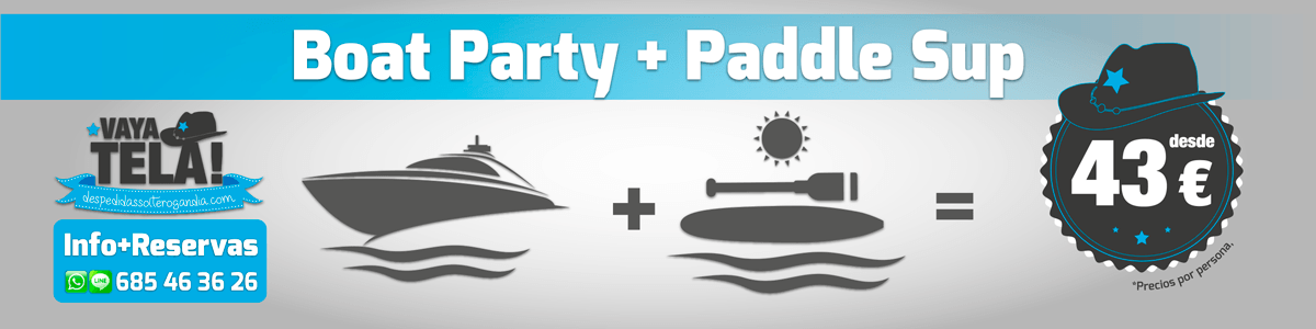 Boat Party + Paddle Surf 43€
