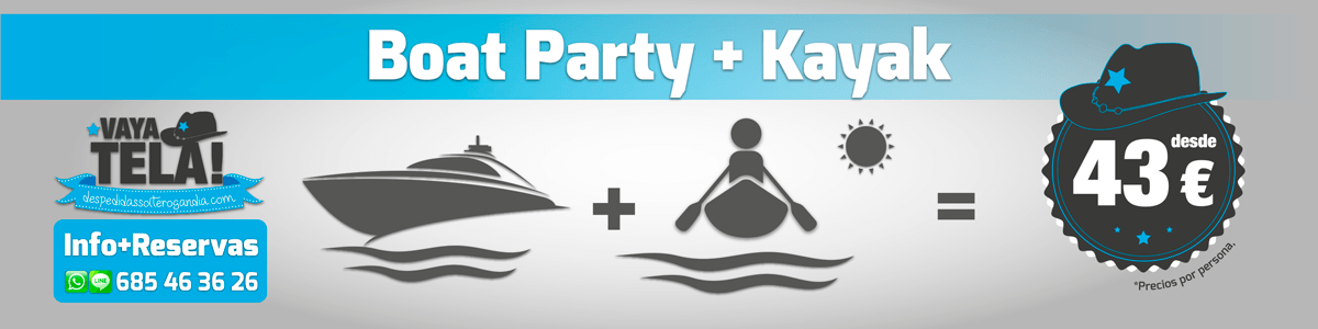 Boat Party + Kayak 43€