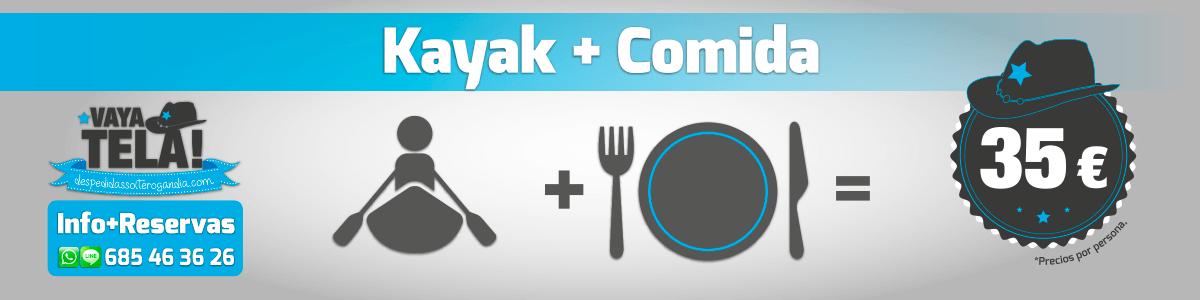 Kayak + Comida